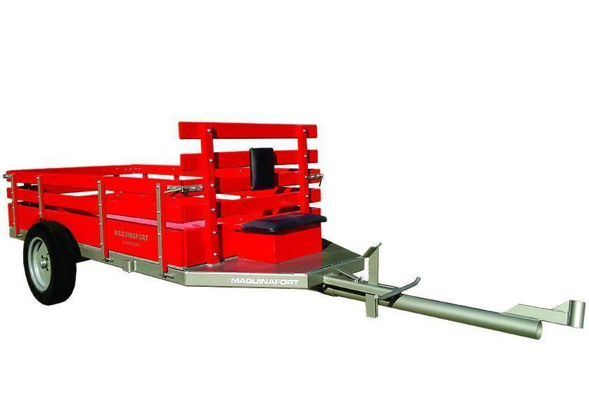 Carreta simples p/Micro Trator Maquina Fort 1 tonelada c/ pn - Hs Floresta e Jardim
