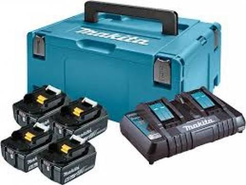 Kit Makita 4 Baterias 18V + Carregador Duplo 220V MKP3PM184 - Hs Floresta e Jardim