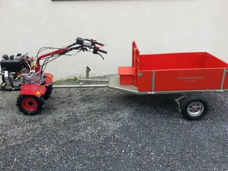 Carreta P/Motocultivador Gasolina 250kg  - Hs Floresta e Jardim