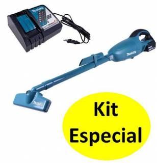 Aspirador de pó à bateria 18v Makita DCL180Z +carregador+bat