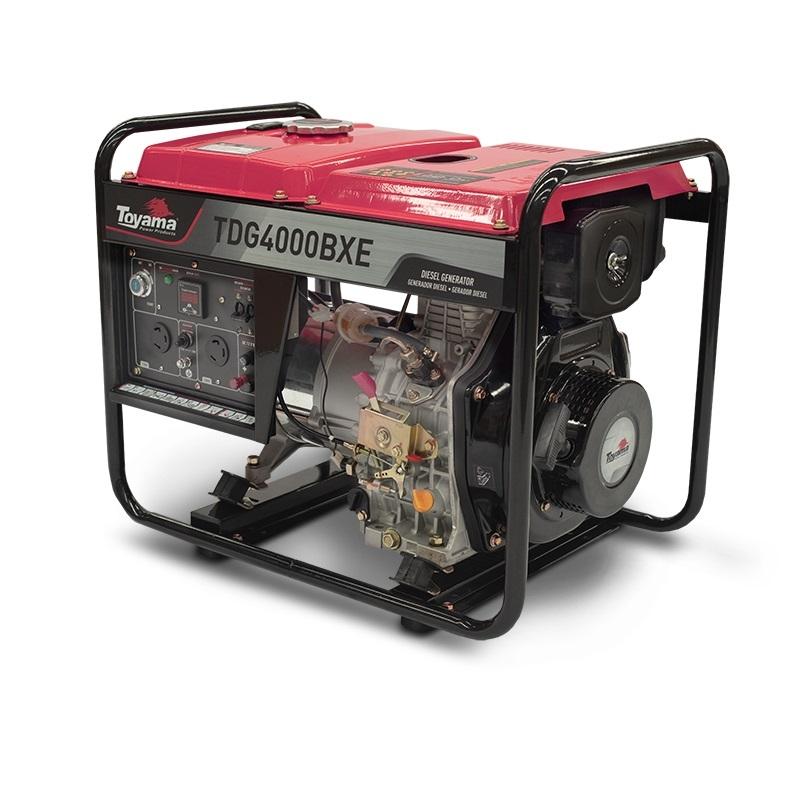 Gerador diesel TOYAMA TDG4000BXE 3,8 Kva c/partida elétrica - Hs Floresta e Jardim