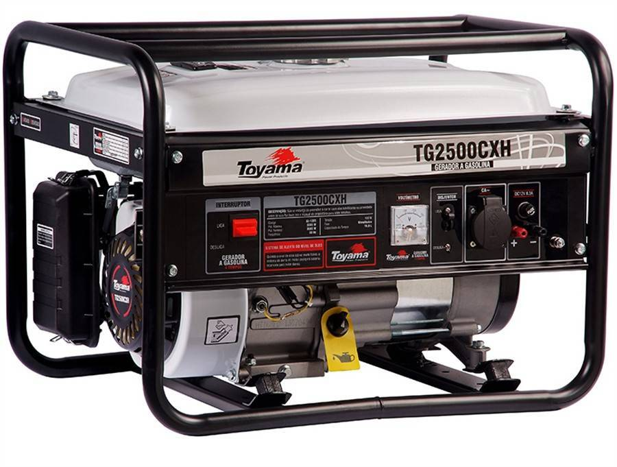 Gerador gasolina TOYAMA TG2500CXH 2200 watts 220v - Hs Floresta e Jardim