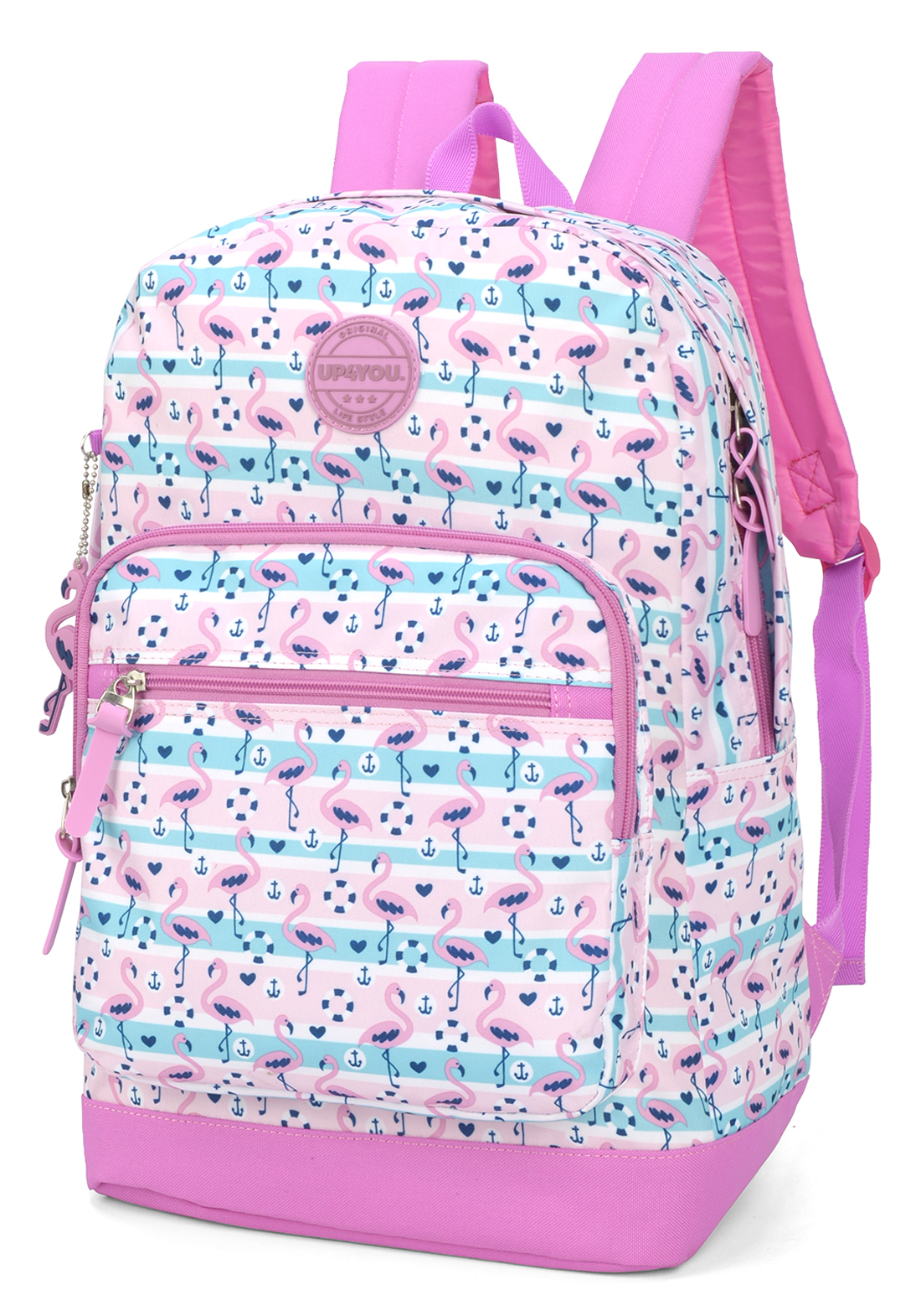 MOCHILA DE COSTAS G UP4YOU LIFE STYLE FLAMINGO - LUXCEL  - PRIMEIRA CLASSE MALAS