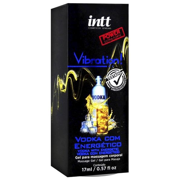 Vibration INTT Vodka com Energético Vibrador Liquido 17ml Extra Forte - SEX SHOP CURITIBA