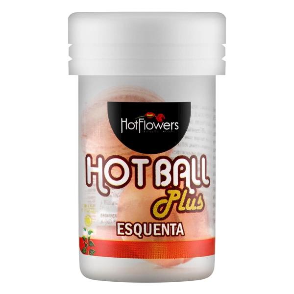 Bolinha Hot Ball Esquenta Hot Flowers  - SEX SHOP CURITIBA