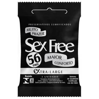 Camisinha Lubrificada Sex Free Extra Grande