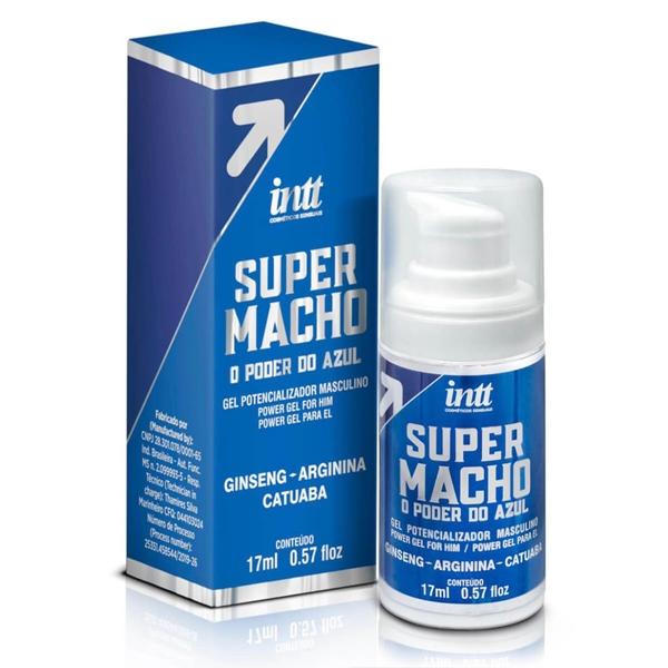 SUPER MACHO INTT GEL POTENCIALIZADOR MASCULINO 17 ML  - SEX SHOP CURITIBA