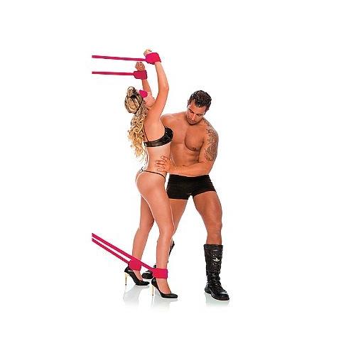 Kit com 4 Amarras de Bondage Cor Rosa - Fetiche PlayGirl - SEX SHOP CURITIBA