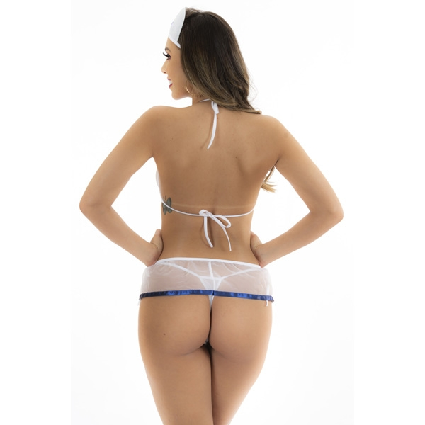 Fantasia Marinheira de Mini Saia Pimenta Sexy - SEX SHOP CURITIBA
