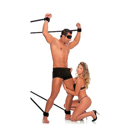 Kit com 4 Amarras de Bondage e Venda de Pelúcia - Fetiche PlayGirl - SEX SHOP CURITIBA