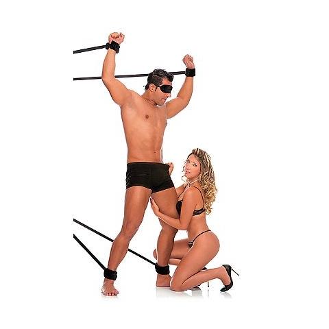 Kit com 4 Amarras de Bondage e Venda de Pelúcia Cor Oncinha - Fetiche PlayGirl - SEX SHOP CURITIBA