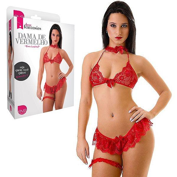 Fantasia  Erótica Dama de Vermelho - SEX SHOP CURITIBA