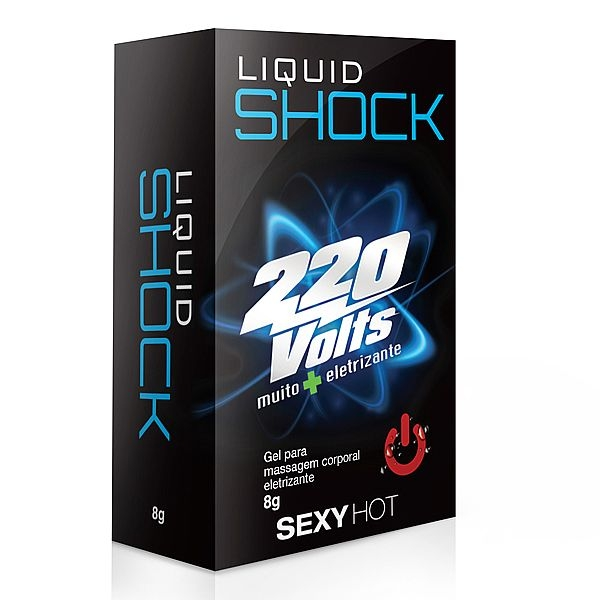 Vibrador Líquido Liquid Shock 220V - Gel Super Eletrizante 8 gr - SEX SHOP CURITIBA