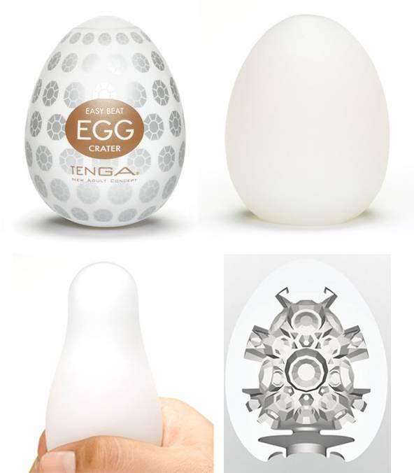 Masturbador Tenga Egg Crater - Masturbador em Silicone - SEX SHOP CURITIBA
