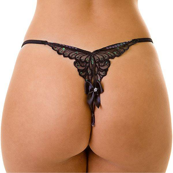 Tanga Butterfly - Bordado em Formato de Borboleta - SEX SHOP CURITIBA