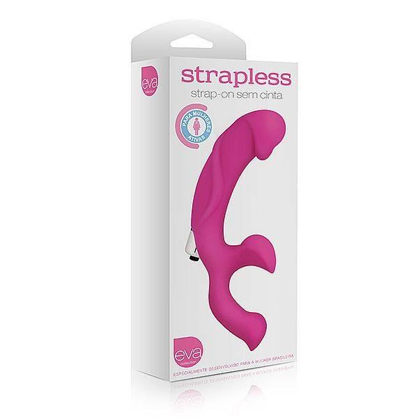 Vibrador Strapless Garota Ativa em Silicone 17 x 2,5 cm  - SEX SHOP CURITIBA