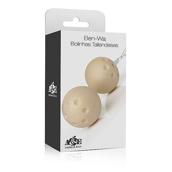 Conjunto com 2 Bolas de Pompar Marfim - SEX SHOP CURITIBA