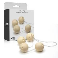Bolas de Pompoar Marfim - Kit de 4 Bolas de Pompoarismo