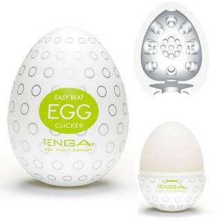 Masturbador Tenga Egg Clicker - Masturbador em Formato de Ovo para penetração