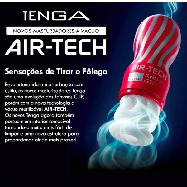 Masturbador Tenga Air-Tech Red Simula Vagina Ponto G - Lavável Interior Removível - SEX SHOP CURITIBA