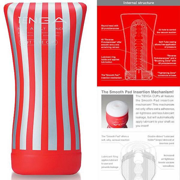 Masturbador Tenga Soft Tube Cup - simula posição sentado ela por cima, vaginal - SEX SHOP CURITIBA