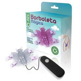 Butterfly Vibrador 12 Vel. Mini Borboleta Mágica Transparente