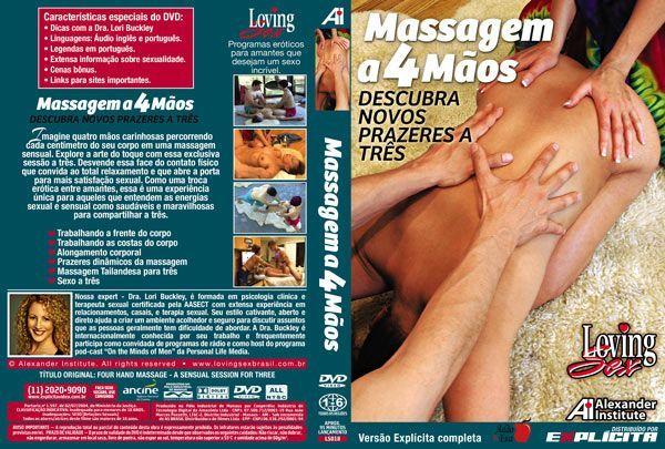 DVD Erótico Massagem A 4 Mãos Descubra Novos Prazeres A Três Coleção Amor e Sexo - SEX SHOP CURITIBA