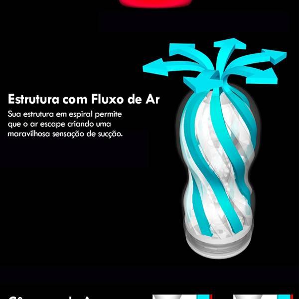 Masturbador Tenga Air-Tech White Simula VAgina Espiral - Lavável Interior Removível - SEX SHOP CURITIBA