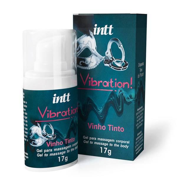 Vibration INTT Vibrador Liquido 17g Sabor Vinho Tinto - Gel Eletrizante INTT - SEX SHOP CURITIBA