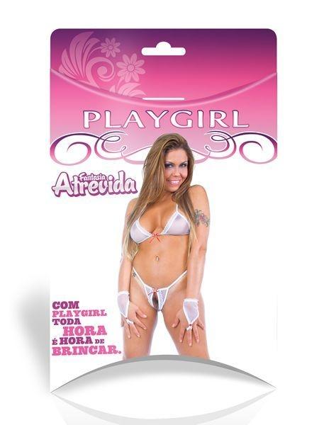 PROMOÇÃO Fantasia Sensual Atrevida - PlayGirl - 4 peças - SEX SHOP CURITIBA