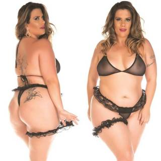 Mini Conjunto Sex Plus Size Com Persex