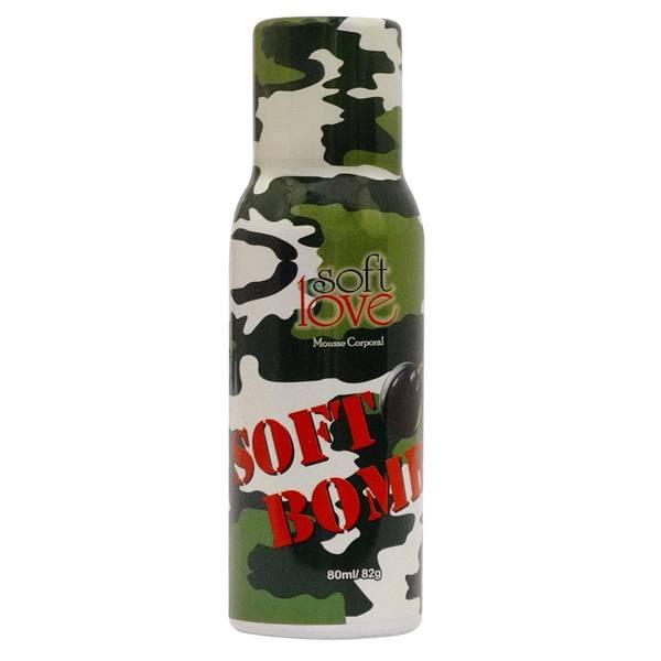 Soft Bomb Mousse Corporal 80ml Soft Love - SEX SHOP CURITIBA