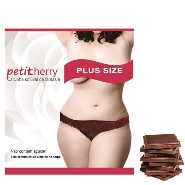 Calcinha Comestivel Plus Size Sabor Chocolate - SEX SHOP CURITIBA