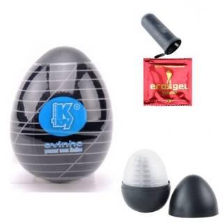 PROMOÇÃO Masturbador Egg Linhas - Masturbador Ovinho