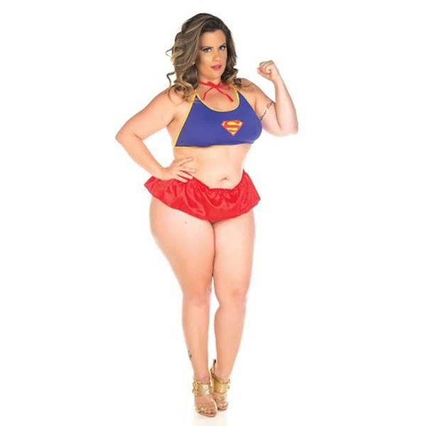 Fantasia Erótica Super Girl Plus Size - SEX SHOP CURITIBA