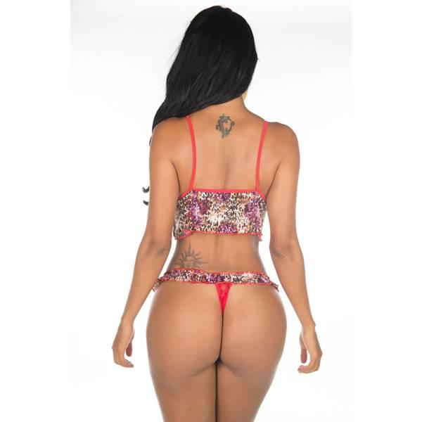 Fantasia Engraçadinha Sexy - Cor Oncinha - SEX SHOP CURITIBA