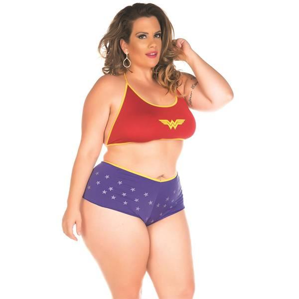 Fantasia Erótica Mulher Maravilha Super Herói Plus Size - SEX SHOP CURITIBA