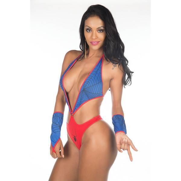 Fantasia Body Mulher Aranha Super Herói Sexy - SEX SHOP CURITIBA