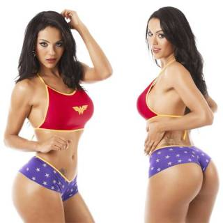 Fantasia Erótica Mulher Maravilha Super Herói