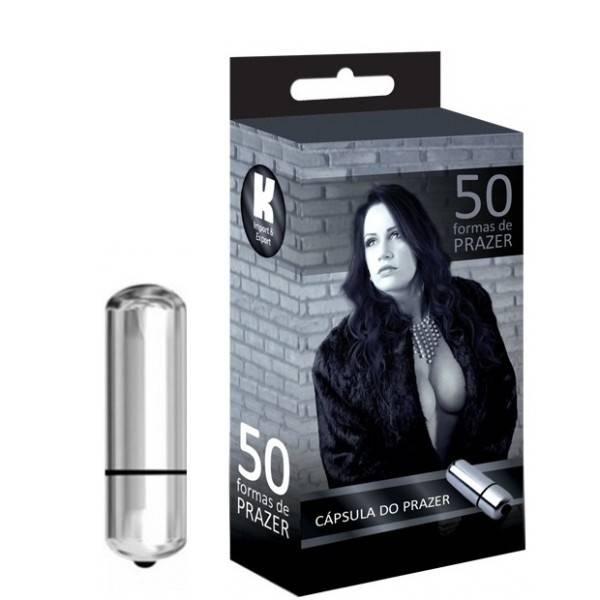 Vibrador Cápsula Prata - 50 Formas De Prazer - SEX SHOP CURITIBA