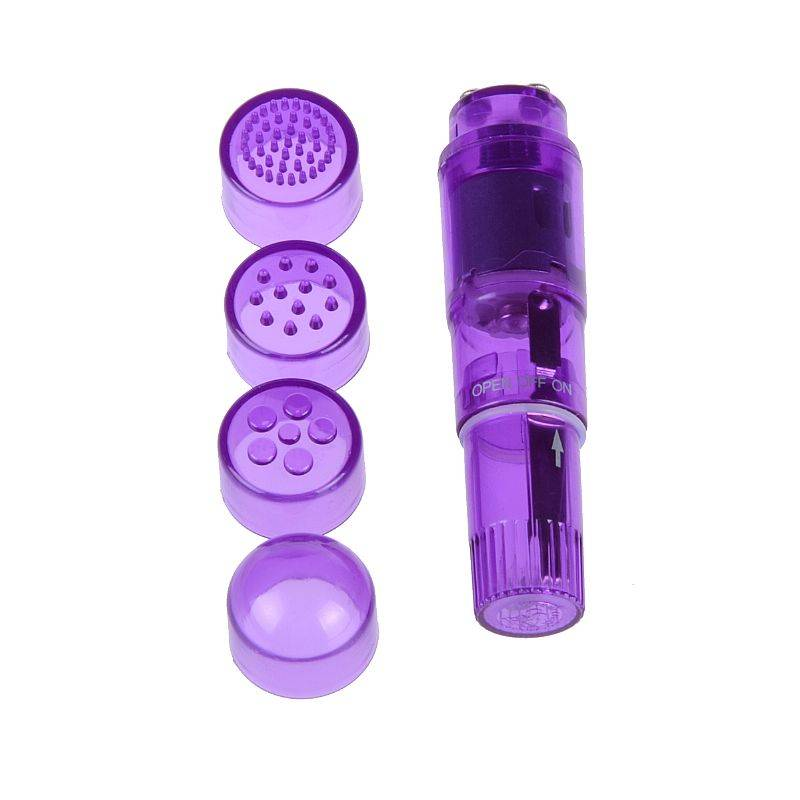 Vibrador Com 4 Massageadores Roxo - SEX SHOP CURITIBA