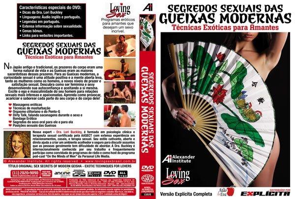 DVD Erótico Segredos Sexuais Das Gueixas Modernas - Coleção Amor e Sexo - SEX SHOP CURITIBA