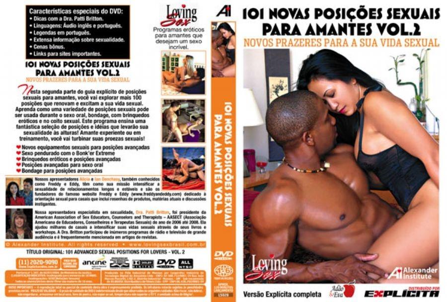 DVD Erótico 101 Novas Posições Sexuais Para Amantes Vol.2 - Coleção Amor e Sexo - SEX SHOP CURITIBA