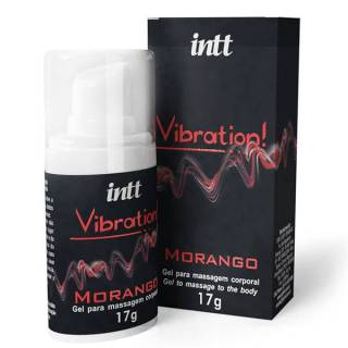 Vibration INTT Vibrador Liquido 17g Morango - Gel Eletrizante INTT