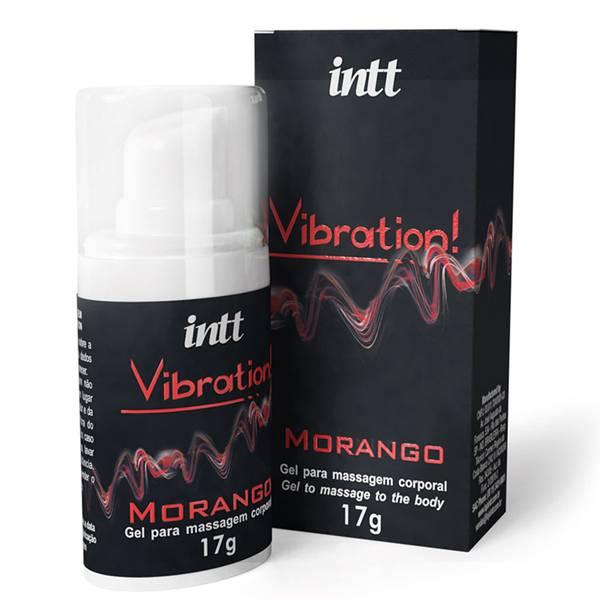 Vibration INTT Vibrador Liquido 17g Morango - Gel Eletrizante INTT - SEX SHOP CURITIBA