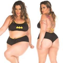 Fantasia Erótica Bat Girl Super Herói Plus Size