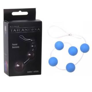 Bolinha Tailandesa Azul 5 Esferas de 2,4cm