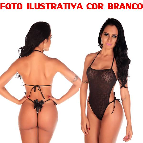 Body Em Renda Pimenta Sexy COR BRANCO - SEX SHOP CURITIBA