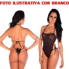 Body Em Renda Pimenta Sexy COR VERMELHO