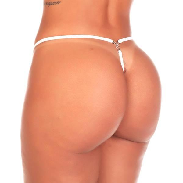 Calcinha Fio Playboy Cor Branco - SEX SHOP CURITIBA